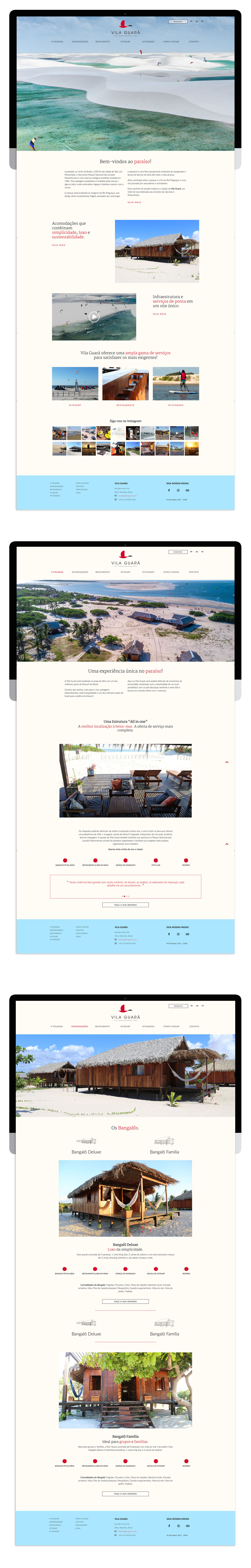 pousada vila guara' [art direction web design and web development]
